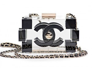 chanel perspex clutch